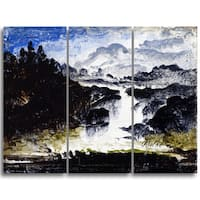 Design Art 'Peder Balke - A Waterfall' Canvas Art Print