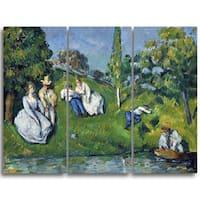 Design Art 'Paul Cezanne - The  Pond' Canvas Art Print