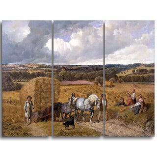 Design Art 'John Frederick Herring - The Harvest' Canvas Art Print