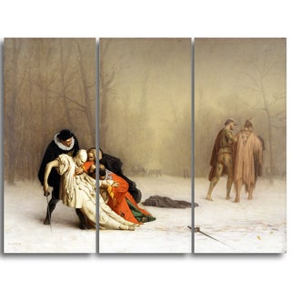 Design Art 'Jean Leon Gerome - The Duel After the Masquerade' Canvas Art Print