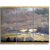 Design Art 'JC Dahl - Cloud Study with Sunbeams' Canvas Art Print