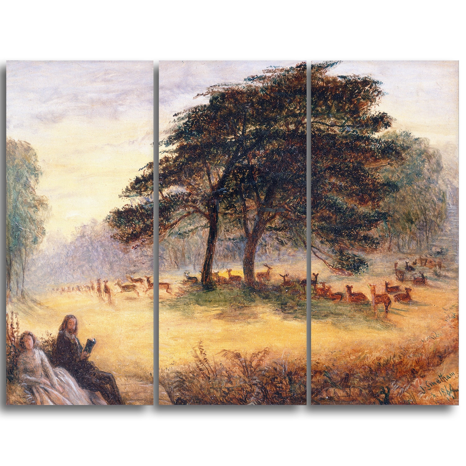 Shop Design Art James Smetham Lovers In Richmond Park Canvas Art Print Overstock 10658809