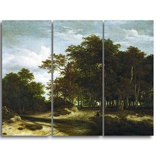 Design Art 'Jacob van Ruisdael - The Great Forest' Canvas Art Print