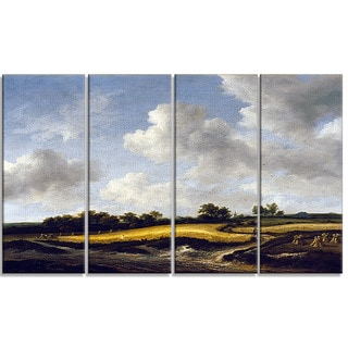 Design Art 'Jacob van Ruisdael - Landscape with a Wheatfield' Canvas Art Print