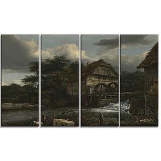 Design Art 'Jacob van Ruisdael - Two Watermills and an Open Sluice' Canvas Art Print