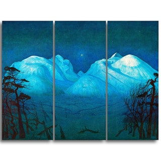 Design Art 'Harald Sohlberg - Winter Night in the Mountains' Lansdcape Canvas Artwork