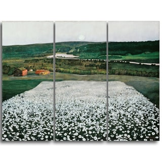 Design Art 'Harald Sohlberg - Flower Meadow in the North' Lansdcape Canvas Artwork