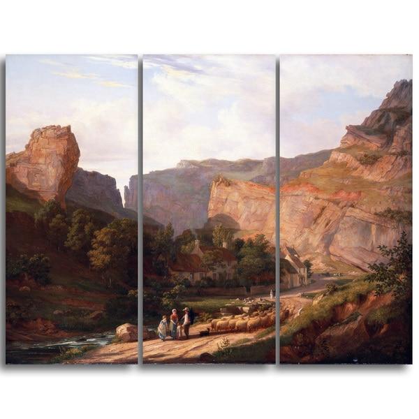 Design Art 'George Vincent - A View of Cheddar Gorge' Landscape Canvas Art Print