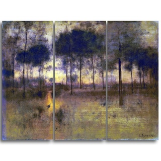 Design Art 'George Inness - The Home of the Heron' Landscape Canvas Art Print