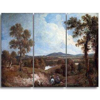 Design Art 'George Howland  - Landscape with Figure in Foreground' Landscape Canvas Art Print