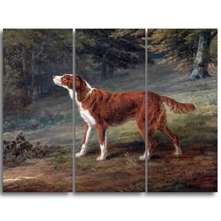 Design Art 'George Garrard - Ranger, a Setter' Landscape Canvas Art Print