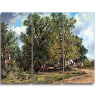 Design Art 'Frederick W Watts - Landscape with Cottages' Landscape Canvas Art Print
