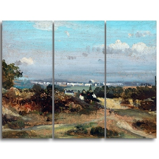 Design Art 'Frederick W Watts - A View in Suffolk' Landscape Canvas Art Print