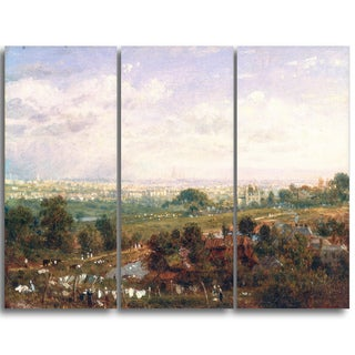 Design Art 'Frederick Nash - London from Islington Hill' Landscape Canvas Art Print