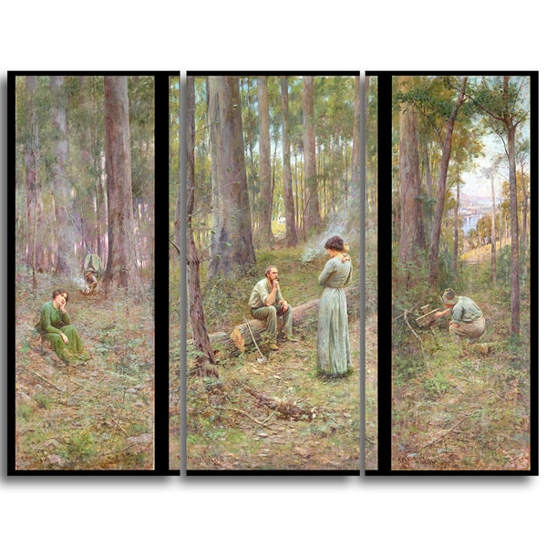 Design Art 'Frederick McCubbin - The Pioneer' Landscape Canvas Art Print