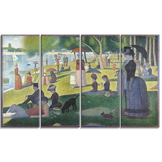 Design Art 'Georges Seurat - A Sunday on La Grande Jatte' Landscape Canvas Wall Art