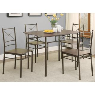 Glanna Comtemporary X Motifs Dark Bronze 5-piece Dining set