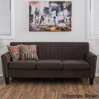 Brookfield Three-Seat Fabric Sofa by Christopher Knight Home
