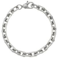 Stainless Steel 8.5-inch Cable Chain Bracelet