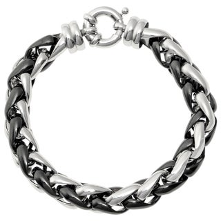 Stainless Steel Two-tone Wheat Chain Bracelet