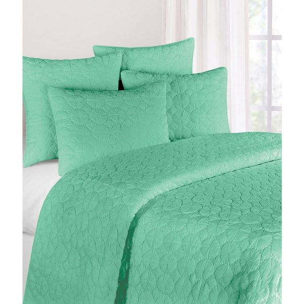 Seafoam Mara Cotton Quilt (Shams Not Included)