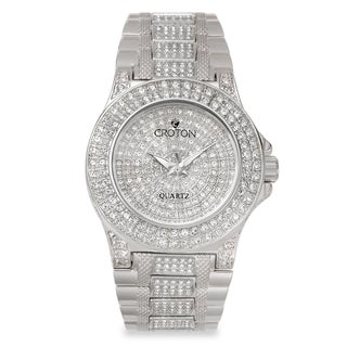 Croton Women's CN207538RHPV Stainless Steel Silvertone Full CrystalWatch