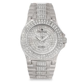 Croton Women's CN207538RHPV Stainless Steel Silvertone Full CrystalWatch|https://ak1.ostkcdn.com/images/products/10659020/P17725105.jpg?impolicy=medium