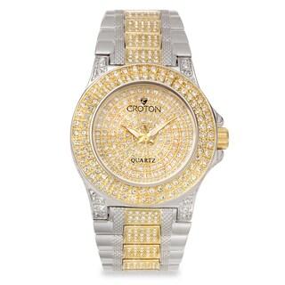 Croton Women's CN207538TTPV Stainless Steel Two-tone Austrian Crystal Watch