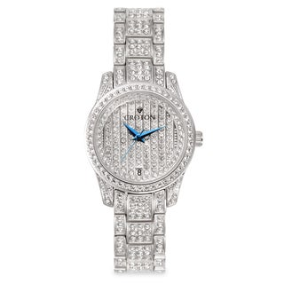 Croton Women's CN207543RHPV Stainless Steel Silvertone Austrian Crystal Watch