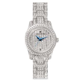 Croton Women's CN207543RHPV Stainless Steel Silvertone Austrian Crystal Watch|https://ak1.ostkcdn.com/images/products/10659022/P17725107.jpg?impolicy=medium