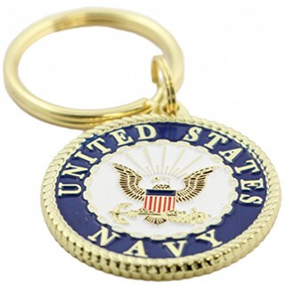 United States Navy Crest Key Ring