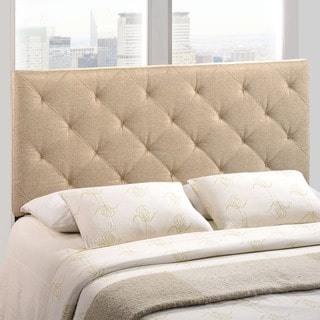 Modway Theodore Fabric Headboard in Beige