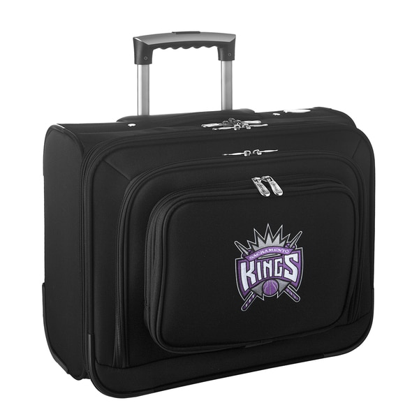 Denco Sports Legacy NBA Sacramento Kings Carry On 14-inch Laptop Rolling Overnight Tote