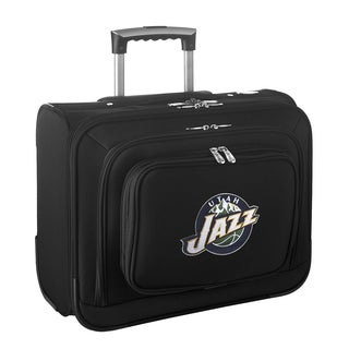 Denco Sports Legacy NBA Utah Jazz Carry On 14-inch Laptop Rolling Overnight Tote