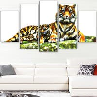 Design Art 'Soft Tigers' Large Animal Canvas Artwork