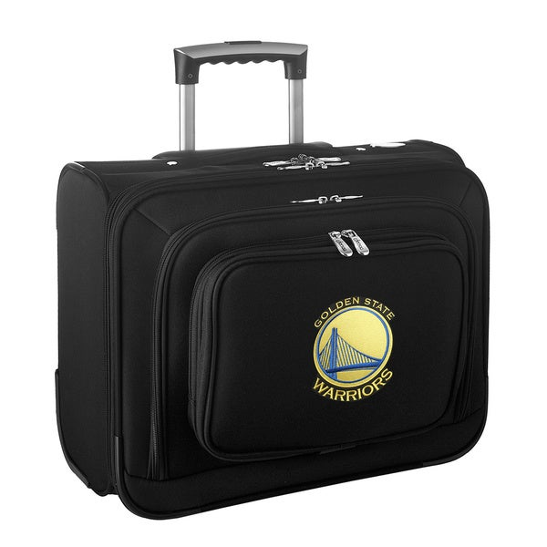 Denco Sports Legacy NBA Golden State Warriors Carry On 14-inch Laptop Rolling Overnight Tote