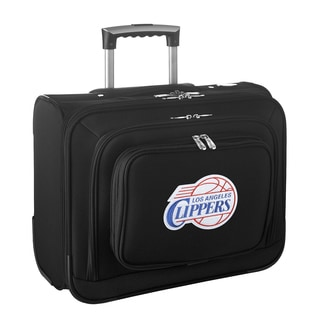 Denco Sports Legacy NBA Los Angeles Clippers Carry On 14-inch Laptop Rolling Overnight Tote