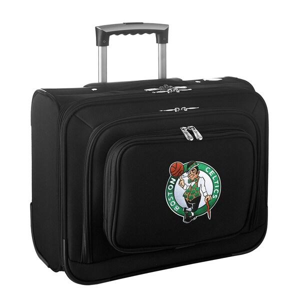 Denco Sports Legacy NBA Boston Celtics Carry On 14-inch Laptop Rolling Overnight Tote