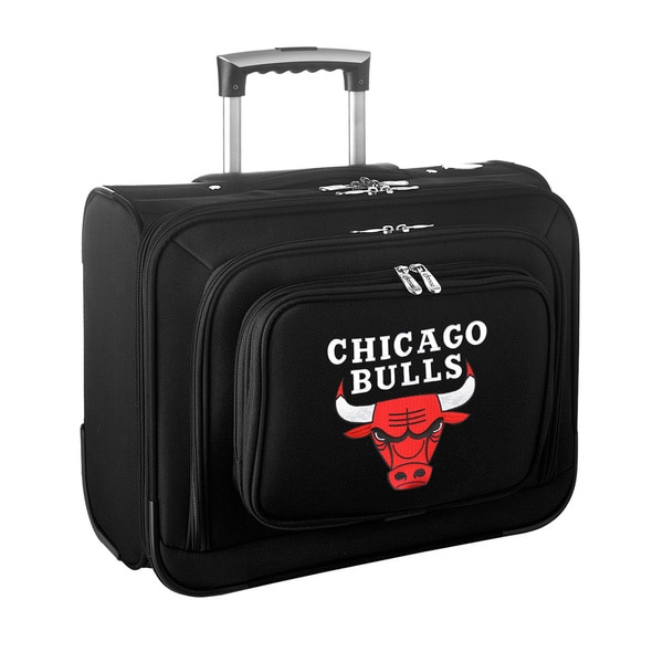 Denco Sports Legacy NBA Chicago Bulls Carry On 14-inch Laptop Rolling Overnight Tote