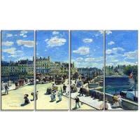 Design Art 'Auguste Renoir - Pont Neuf Paris' Sea & Shore Canvas Art Print