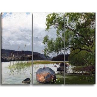 Design Art 'Fanny Churberg - Shore Landscape' Sea & Shore Canvas Art Print