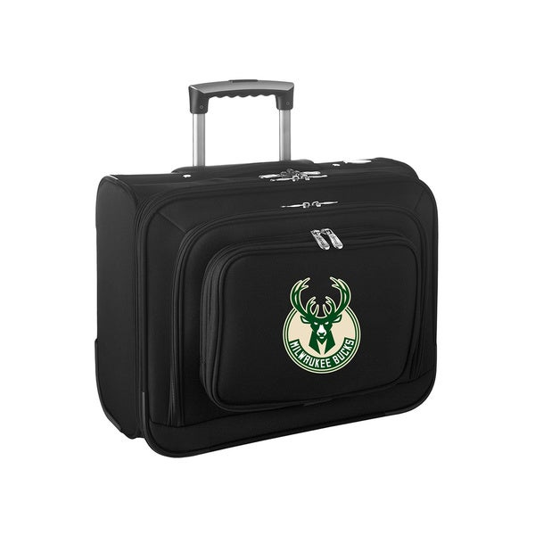 Denco Sports Legacy NBA Milwaukee Bucks Carry On 14-inch Laptop Rolling Overnight Tote