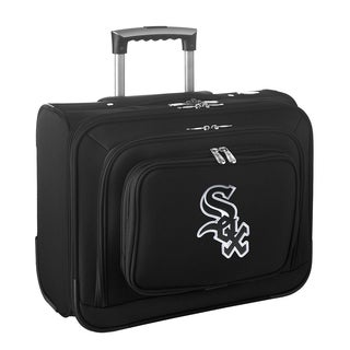 Denco Sports Legacy MLB Chicago White Sox Carry On 14-inch Laptop Rolling Overnight Tote