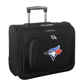Denco Sports Legacy MLB Toronto Blue Jays Carry On 14-inch Laptop Rolling Overnight Tote