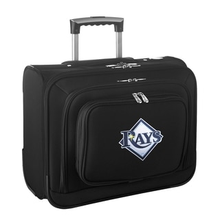 Denco Sports Legacy MLB Tampa Bay Rays Carry On 14-inch Laptop Rolling Overnight Tote