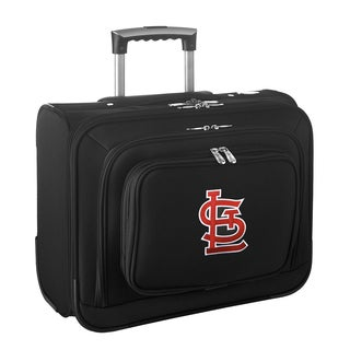 Denco Sports Legacy MLB St. Louis Cardinals Carry On 14-inch Laptop Rolling Overnight Tote