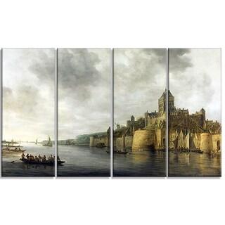Design Art 'Jan van Goyen - View on the Waal' Sea & Shore Canvas Art Print