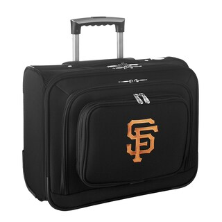 Denco Sports Legacy MLB San Francisco Giants Carry On 14-inch Laptop Rolling Overnight Tote