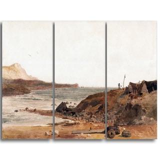 Design Art 'Peter DeWint - Coast Scene' Large Sea & Shore Canvas Art