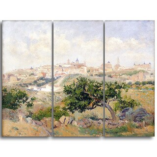 Design Art 'Aureliano de Beruete - View of Toledo' Master Piece Landscape Artwork
